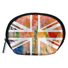 Union Jack Abstract Watercolour Painting Accessory Pouches (Medium)