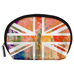 Union Jack Abstract Watercolour Painting Accessory Pouches (Large)