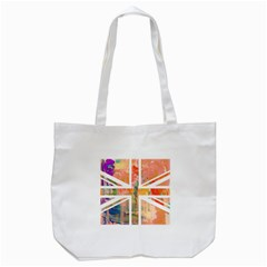 Union Jack Abstract Watercolour Painting Tote Bag (white)