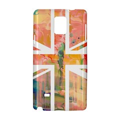 Union Jack Abstract Watercolour Painting Samsung Galaxy Note 4 Hardshell Case