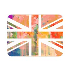 Union Jack Abstract Watercolour Painting Double Sided Flano Blanket (Mini)