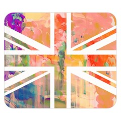 Union Jack Abstract Watercolour Painting Double Sided Flano Blanket (small)