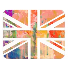 Union Jack Abstract Watercolour Painting Double Sided Flano Blanket (Large)