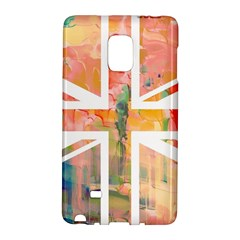 Union Jack Abstract Watercolour Painting Galaxy Note Edge