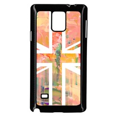 Union Jack Abstract Watercolour Painting Samsung Galaxy Note 4 Case (black)