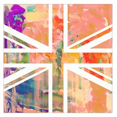 Union Jack Abstract Watercolour Painting Large Satin Scarf (Square)