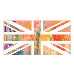 Union Jack Abstract Watercolour Painting Satin Shawl