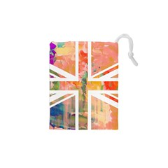 Union Jack Abstract Watercolour Painting Drawstring Pouches (XS)