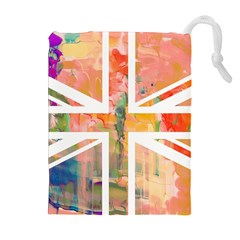 Union Jack Abstract Watercolour Painting Drawstring Pouches (Extra Large)