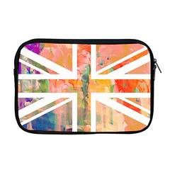 Union Jack Abstract Watercolour Painting Apple Macbook Pro 17  Zipper Case
