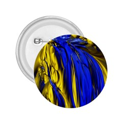 Blue And Gold Fractal Lava 2 25  Buttons