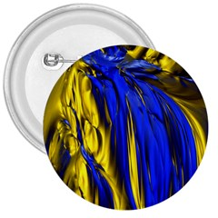 Blue And Gold Fractal Lava 3  Buttons
