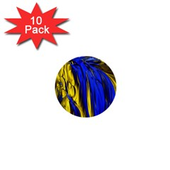 Blue And Gold Fractal Lava 1  Mini Buttons (10 pack)
