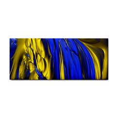 Blue And Gold Fractal Lava Cosmetic Storage Cases