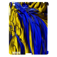 Blue And Gold Fractal Lava Apple iPad 3/4 Hardshell Case (Compatible with Smart Cover)