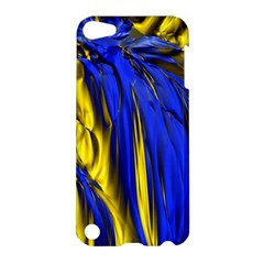 Blue And Gold Fractal Lava Apple Ipod Touch 5 Hardshell Case