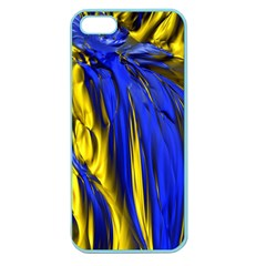 Blue And Gold Fractal Lava Apple Seamless iPhone 5 Case (Color)