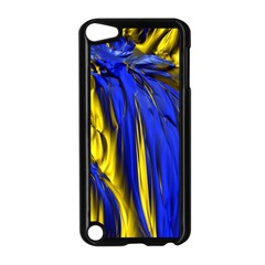 Blue And Gold Fractal Lava Apple iPod Touch 5 Case (Black)