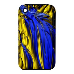 Blue And Gold Fractal Lava iPhone 3S/3GS