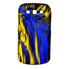 Blue And Gold Fractal Lava Samsung Galaxy S III Classic Hardshell Case (PC+Silicone)