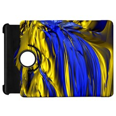 Blue And Gold Fractal Lava Kindle Fire HD 7