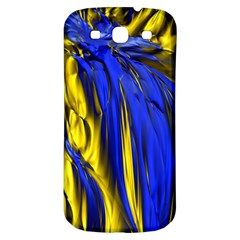 Blue And Gold Fractal Lava Samsung Galaxy S3 S III Classic Hardshell Back Case