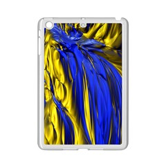 Blue And Gold Fractal Lava iPad Mini 2 Enamel Coated Cases