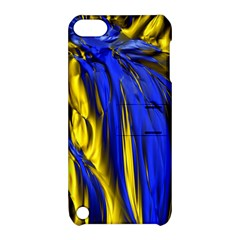 Blue And Gold Fractal Lava Apple Ipod Touch 5 Hardshell Case With Stand