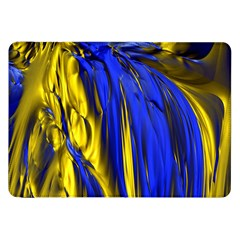 Blue And Gold Fractal Lava Samsung Galaxy Tab 8.9  P7300 Flip Case
