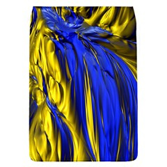 Blue And Gold Fractal Lava Flap Covers (L)