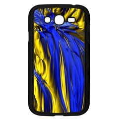 Blue And Gold Fractal Lava Samsung Galaxy Grand DUOS I9082 Case (Black)