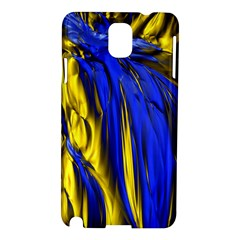 Blue And Gold Fractal Lava Samsung Galaxy Note 3 N9005 Hardshell Case