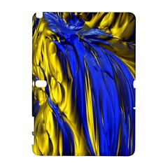 Blue And Gold Fractal Lava Galaxy Note 1