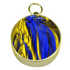 Blue And Gold Fractal Lava Gold Compasses