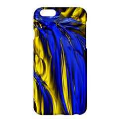 Blue And Gold Fractal Lava Apple iPhone 6 Plus/6S Plus Hardshell Case
