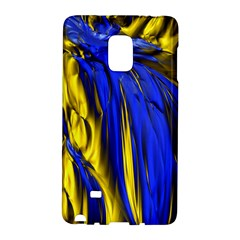 Blue And Gold Fractal Lava Galaxy Note Edge