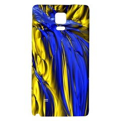 Blue And Gold Fractal Lava Galaxy Note 4 Back Case
