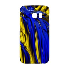 Blue And Gold Fractal Lava Galaxy S6 Edge