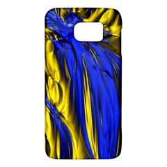 Blue And Gold Fractal Lava Galaxy S6