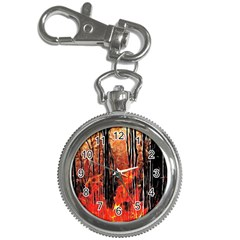 Forest Fire Fractal Background Key Chain Watches