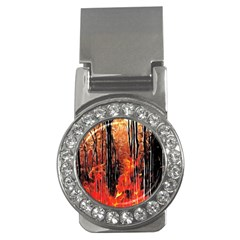 Forest Fire Fractal Background Money Clips (CZ)