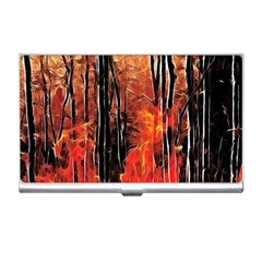 Forest Fire Fractal Background Business Card Holders