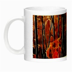 Forest Fire Fractal Background Night Luminous Mugs