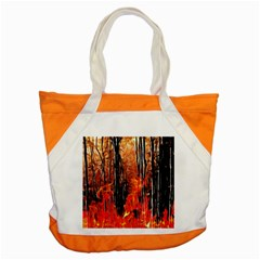 Forest Fire Fractal Background Accent Tote Bag