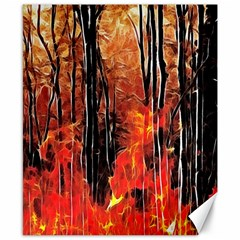 Forest Fire Fractal Background Canvas 8  x 10