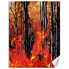 Forest Fire Fractal Background Canvas 12  X 16