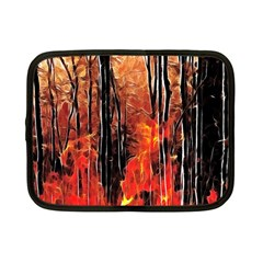 Forest Fire Fractal Background Netbook Case (small)