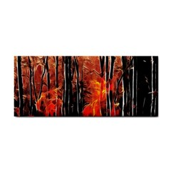 Forest Fire Fractal Background Cosmetic Storage Cases
