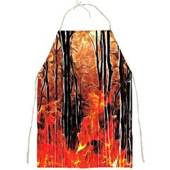 Forest Fire Fractal Background Full Print Aprons