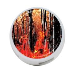 Forest Fire Fractal Background 4 Port Usb Hub (two Sides)